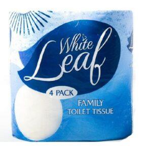 White Leaf Family Toilet