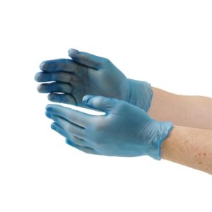 Vinyl Gloves Blue Powdered